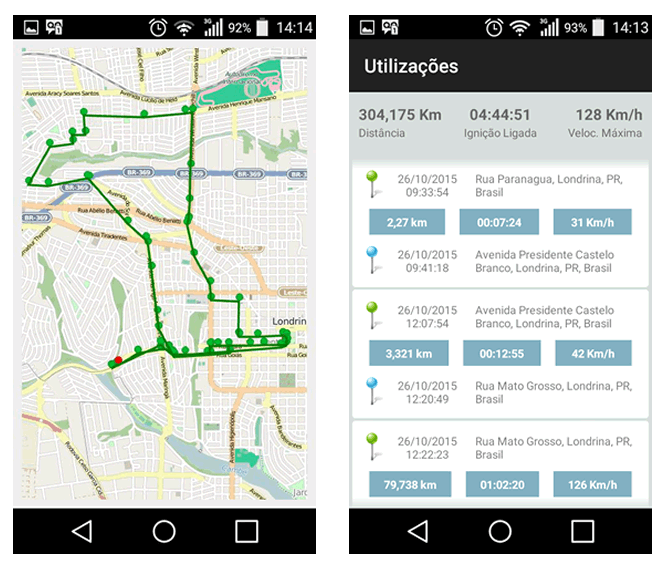 Aplicativo Maxsat Rastreamento para Android e Iphone